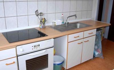 2 cuisines - lave vaisselle - 2 cuisines équipées - lave vaisselle - frigo - freezer - four whirlpool - microondes - vaisselle  - batterie cuisine - placards