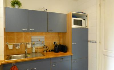 Kitchen 1 - Fully equipped kitchen with toaster, kettle, coffee machine, microwave and storage